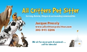 All Critters Pet Sitter - Member Photo