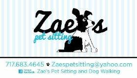 Pet Sitters in Elizabethtown, Pennsylvania