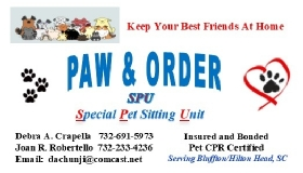 Pet Sitters in Bluffton, South Carolina
